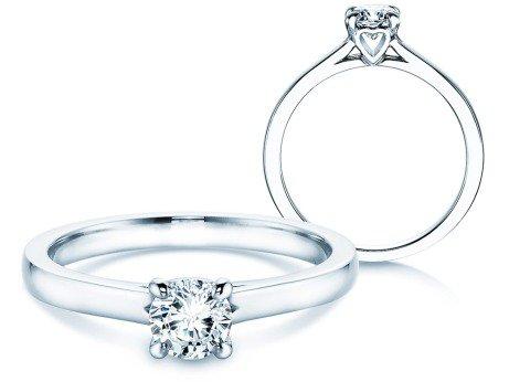 Verlobungsring Romance in 18K Weißgold mit Diamant 0,50ct