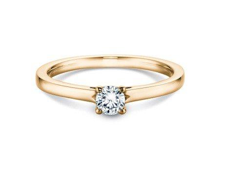 Verlobungsring Romance in 14K Gelbgold mit Diamant 0,25ct