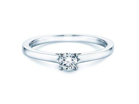 Verlobungsring Romance<br />14K Weißgold<br />Diamant 0,25ct