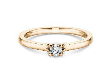 Verlobungsring Romance in 18K Gelbgold mit Diamant 0,20ct