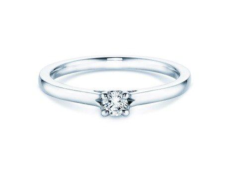 Verlobungsring Romance<br />14K Weißgold<br />Diamant 0,20ct