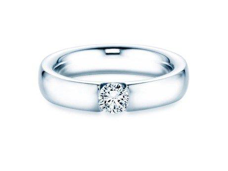 Spannring Destiny<br />14K Weißgold<br />Diamant 0,40ct