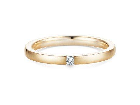 Verlobungsring Infinity in 18K Gelbgold mit Diamant 0,03ct