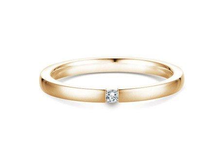 Verlobungsring Infinity in 18K Gelbgold mit Diamant 0,05ct