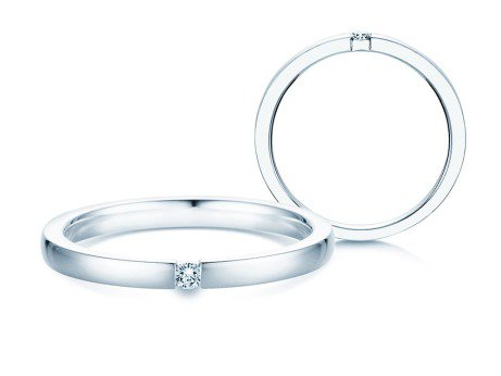 Verlobungsring Infinity<br />Silber<br />Diamant 0,05ct