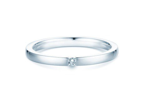 Verlobungsring Infinity<br />Silber<br />Diamant 0,07ct