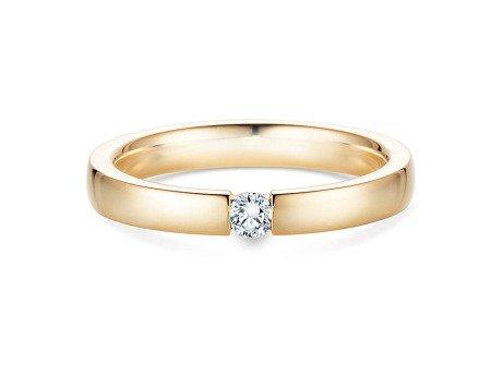 Verlobungsring Infinity in 14K Gelbgold mit Diamant 0,10ct
