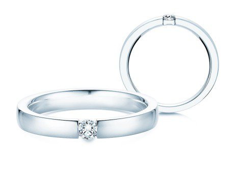 Verlobungsring Infinity<br />Silber<br />Diamant 0,10ct