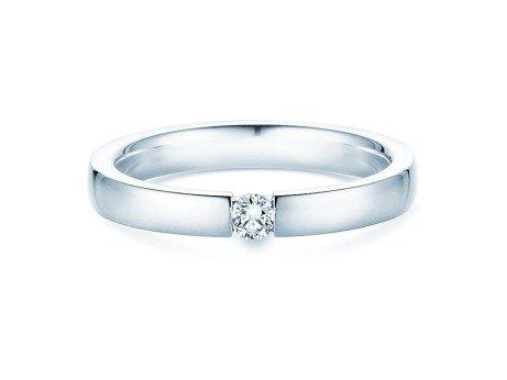 Verlobungsring Infinity<br />18K Weißgold<br />Diamant 0,10ct