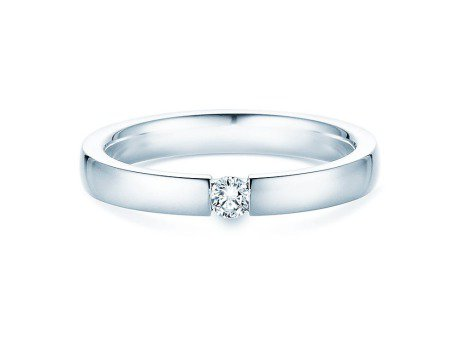 Verlobungsring Infinity<br />Platin<br />Diamant 0,10ct