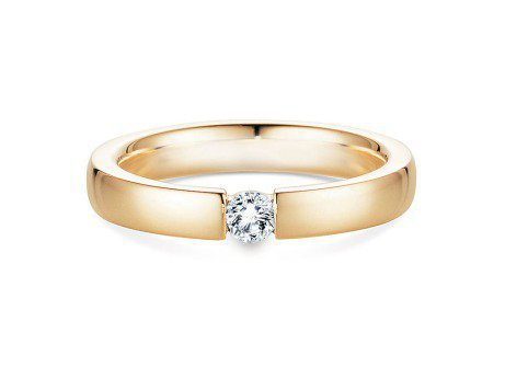 Verlobungsring Infinity<br />14K Gelbgold<br />Diamant 0,15ct