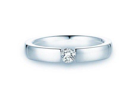 Verlobungsring Infinity in 14K Weißgold mit Diamant 0,20ct
