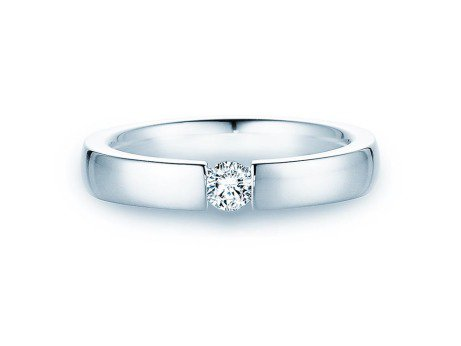 Verlobungsring Infinity<br />Silber<br />Diamant 0,20ct