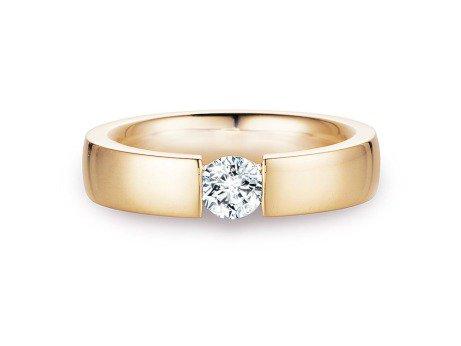 Verlobungsring Infinity<br />14K Gelbgold<br />Diamant 0,50ct