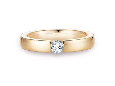 Verlobungsring Infinity<br />14K Gelbgold<br />Diamant 0,40ct