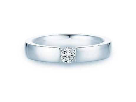 Verlobungsring Infinity<br />14K Weißgold<br />Diamant 0,40ct