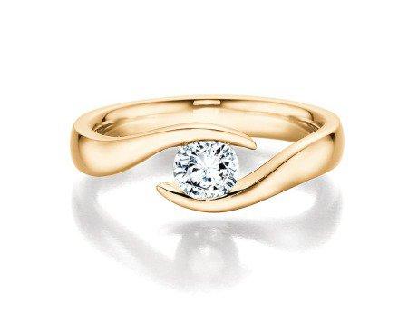 Verlobungsring Twist<br />14K Gelbgold<br />Diamant 0,40ct