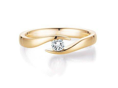 Verlobungsring Twist<br />18K Gelbgold<br />Diamant 0,15ct