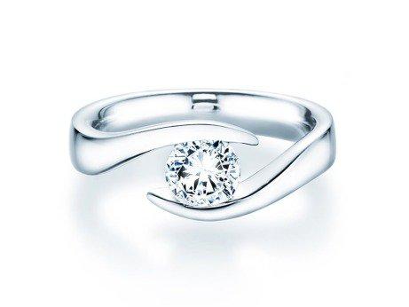 Verlobungsring Twist<br />18K Weissgold<br />Diamant 1,00ct