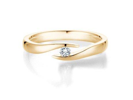 Verlobungsring Twist<br />14K Gelbgold<br />Diamant 0,07ct