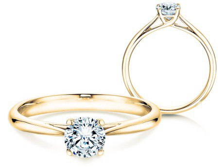 Solitärring Delight in 18K Gelbgold mit Diamant 0,50ct