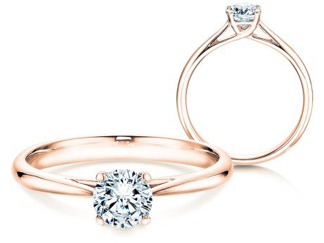 Solitärring Delight<br />18K Roségold<br />Diamant 0,50ct