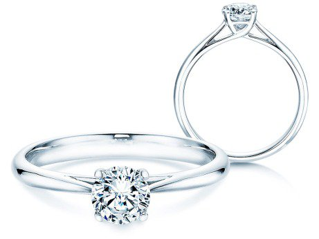 Solitärring Delight<br />14K Weißgold<br />Diamant 0,50ct