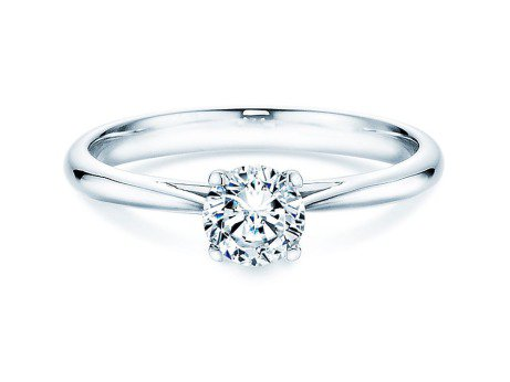 Solitärring Delight in 14K Weißgold mit Diamant 0,50ct