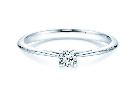 Solitärring Delight in 14K Weißgold mit Diamant 0,15ct