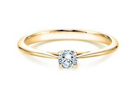 Solitärring Delight<br />14K Gelbgold<br />Diamant 0,15ct