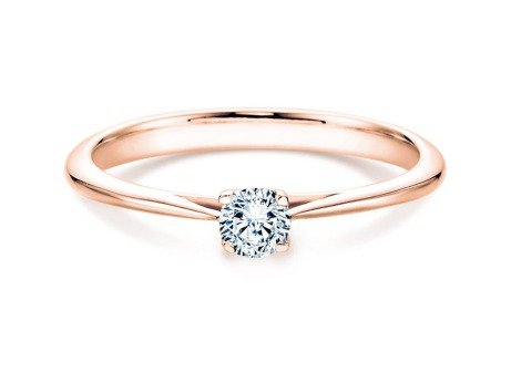 Solitärring Delight in 14K Roségold mit Diamant 0,10ct