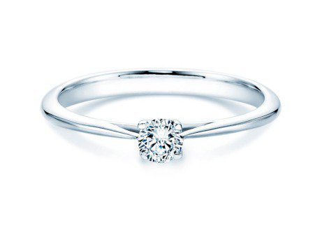 Solitärring Delight in 14K Weißgold mit Diamant 0,25ct