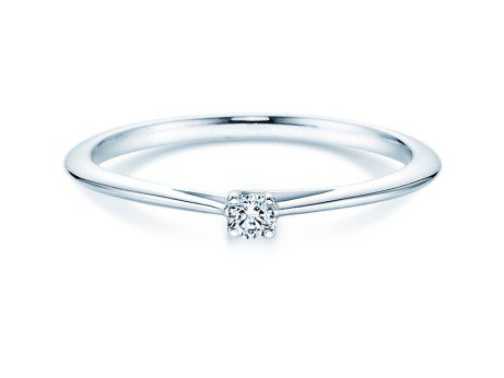 Solitärring Delight in Platin mit Diamant 0,05ct
