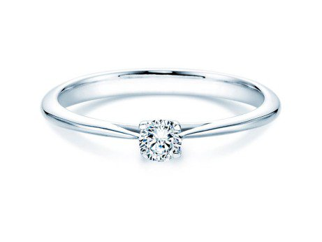 Solitärring Delight in 14K Weißgold mit Diamant 0,20ct