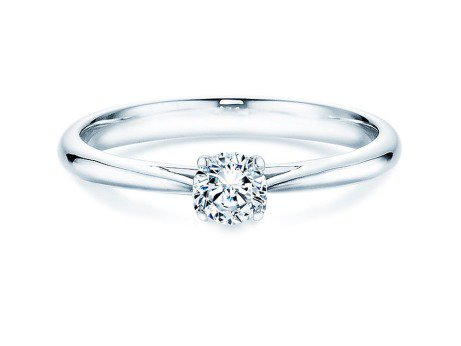 Solitärring Delight<br />14K Weißgold<br />Diamant 0,30ct