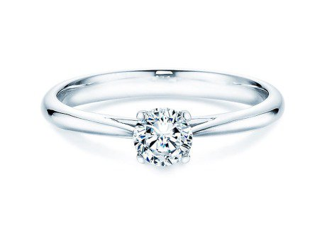 Solitärring Delight in 14K Weißgold mit Diamant 0,40ct