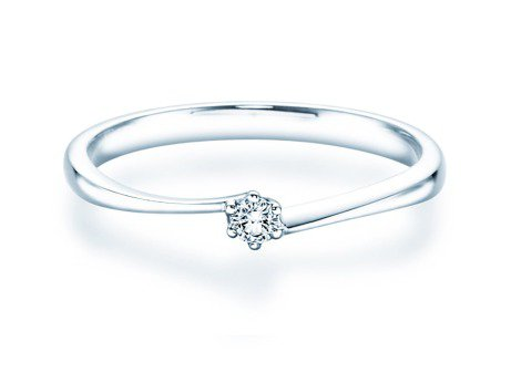 Verlobungsring Devotion in Platin mit Diamant 0,05ct