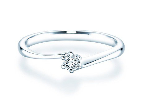 Verlobungsring Devotion in Platin mit Diamant 0,10ct