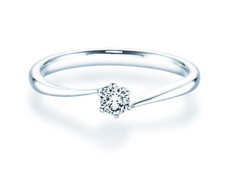 Verlobungsring Devotion in Platin mit Diamant 0,15ct