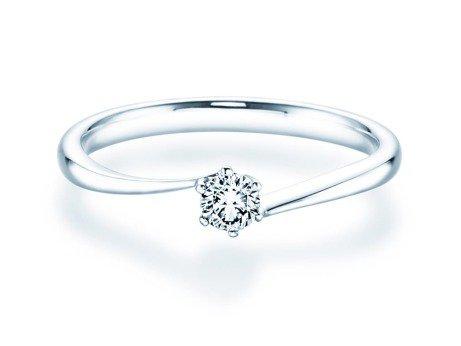 Verlobungsring Devotion<br />Silber<br />Diamant 0,15ct