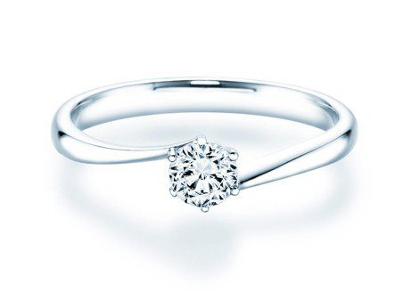 Verlobungsring Devotion in Silber mit Diamant 0,35ct
