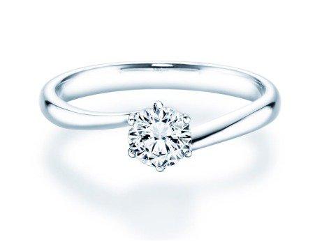 Verlobungsring Devotion in 14K Weißgold mit Diamant 0,50ct