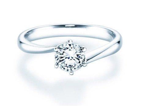 Verlobungsring Devotion in Silber mit Diamant 0,75ct