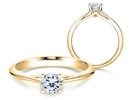 Solitärring Heaven 4<br />14K Gelbgold<br />Diamant 0,50ct