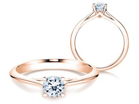 Solitärring Heaven 4 in 14K Roségold mit Diamant 0,50ct