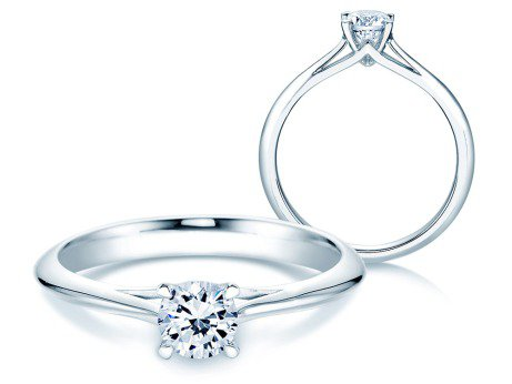 Solitärring Heaven 4 in Platin mit Diamant 0,50ct