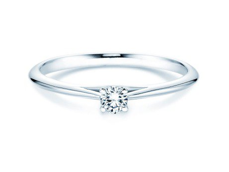 Solitärring Heaven 4 in Platin mit Diamant 0,10ct