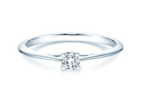 Solitärring Heaven 4 in Platin mit Diamant 0,15ct