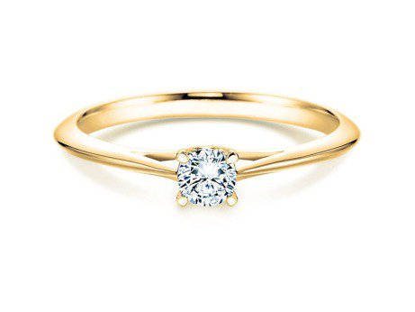 Solitärring Heaven 4 in 14K Gelbgold mit Diamant 0,05ct