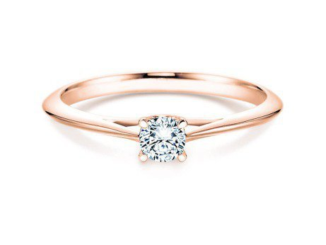 Solitärring Heaven 4 in 14K Roségold mit Diamant 0,15ct